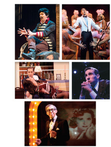 """""""Scott has a special way of bringing a character to life,"""" says Virginia Rep's artistic director, Bruce Miller. Above, Scott wowed audiences as Leo Bloom in The Producers (2012); as Black Stache in Peter and The Starcatcher (2015), Scott showcased his flair for comedy; in Neil Simon's Last of the Red Hot Lovers (2015), Scott worked onstage with his real-life girlfriend, Eva DeVirgilis; in This Wonderful Life (below) Scott brings all the characters of Bedford Falls to life during a one-man show at Hanover Tavern; as George Burns in the emotional tribute, Say Goodnight Gracie (2013)"""