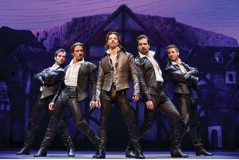 The cast of Something Rotten.