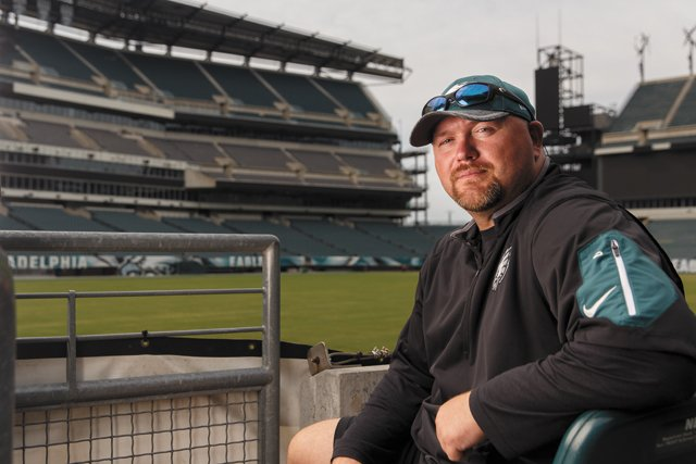 Old Church native Joe Douglas at Lincoln Financial Field, home stadium of the Philadelphia Eagles (Photo by Matt Stanley)