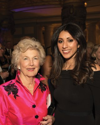 Actresses Suzanne Pollard and Reshma Shetty were honored at Virginia Rep's Anything Goes Gala in January 2017.