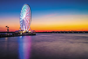 The Capital Wheel offers 180-foot-high views of National Harbor and its environs. (Photo courtesy National Harbor)