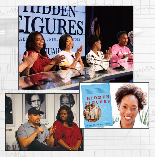 """Author Margo Lee Shetterly told the story that motivated NASA to launch its """"Hidden Figures to Modern Figures"""" program. Families everywhere were inspired by Hidden Figures – in print and on film. Shetterly is a co-grand marshal of the Christmas parade next month with Christine Darden."""