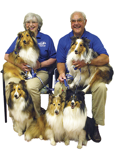 Janie and Al Robertson visit VCU and UR with their therapy dogs and help college students de-stress during exams.